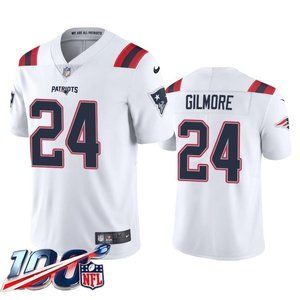 New England Patriots Stephon Gilmore White Jersey